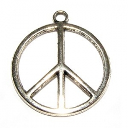 Breloque pendentif Peace and Love