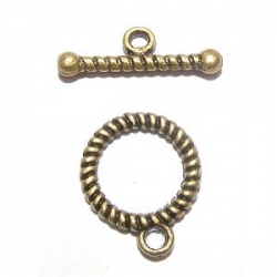 Fermoir Toggle torsadé bronze