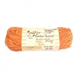 Raffia naturel 50 gr orange