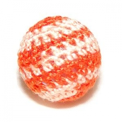 Perles crochet orange et rose 22mm