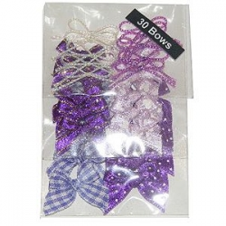 Assortiment de 30 noeuds violets