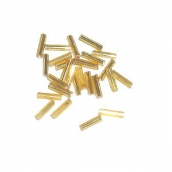 Rocaille Tube Silver line 6mm Goldenrod