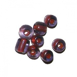Rocaille ronde 5x4mm Rouge