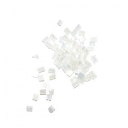 Rocaille cube 2.2mm Blanc AB