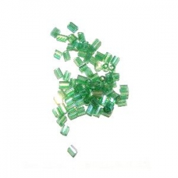 Rocaille cube 2.2mm verte