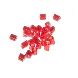 Rocaille cube 2.2mm Rouge AB