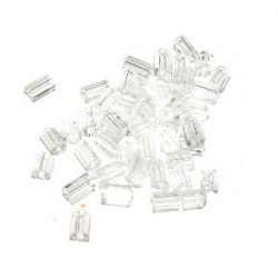 Rocaille cube 2.2mm cristal