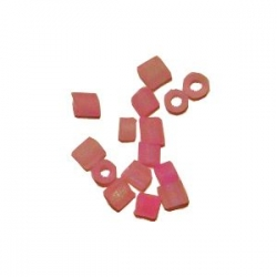 Rocaille cube 1.5mm Rose